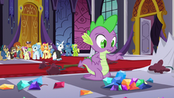 Jewels topple over in front of Spike S5E10