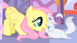 Opal and Fluttershy hugging S1E17