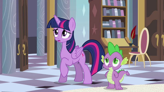 File:Twilight and Spike feel bad for Celestia S4E01.png