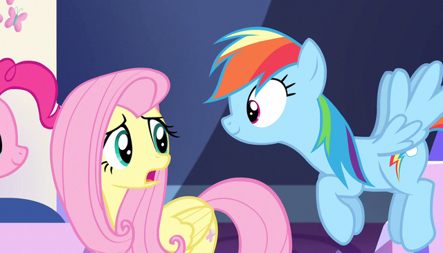 "File:Fluttershy ""Maybe I'll stay here with Spike"" S5E1.png"