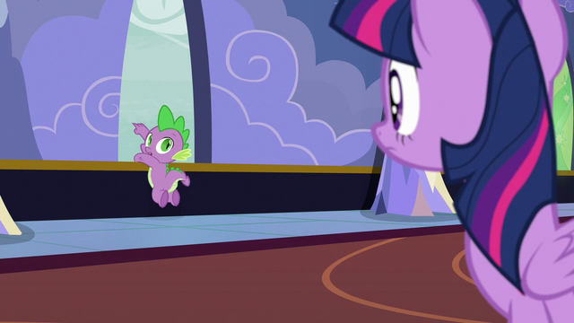 File:Spike pointing out the castle window S6E25.png