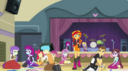 Students gossip about Sunset Shimmer EG2.png