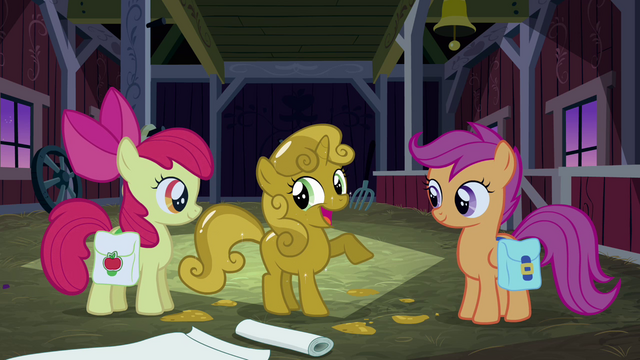File:Sweetie Belle 'That must be what Rarity uses on her emergency edible boots' S3E04.png
