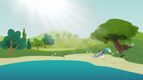 Rainbow Dash at the water hole S3E3