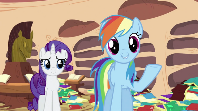 File:Rainbow Dash talking to Spike S2E21.png