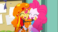 Sunset Shimmer and Pinkie Pie laughing together SS10