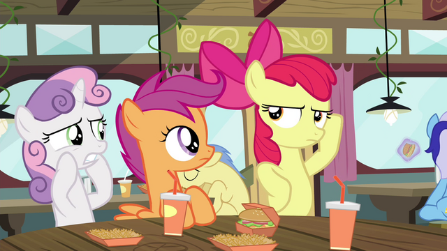 File:Apple Bloom making a pose S4E15.png