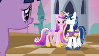 Cadance being possessive of Shining Armor S2E25