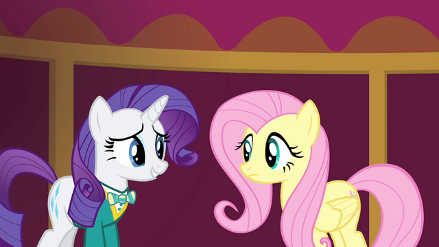 File:Rarity weak smile at Fluttershy S4E14.png