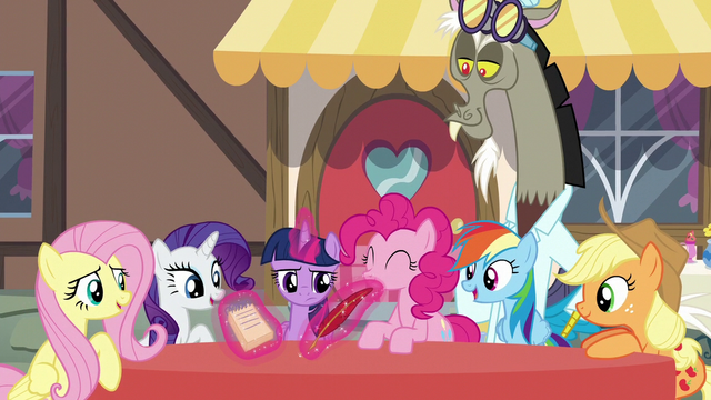 File:Discord poofs a quill and pad for Twilight S5E22.png