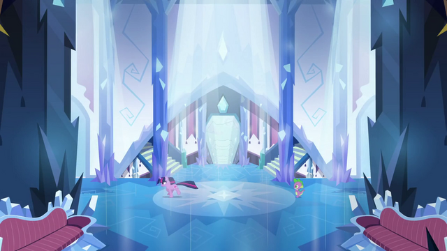 File:Twilight and Spike running in the castle S3E2.png