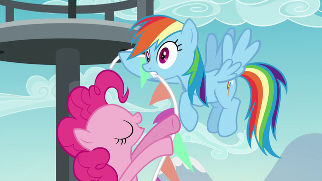 File:Rainbow Dash startled by Pinkie Pie S5E24.png