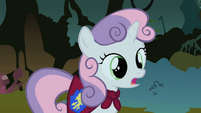 Sweetie Belle 'I heard something and that wasn't a chicken!' S1E17