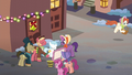 A gather of ponies about to sing S06E08.png