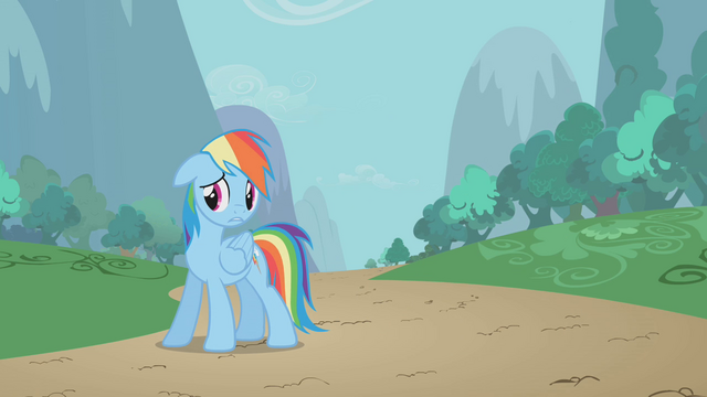 File:Rainbow sad about leaving Pinkie behind S1E05.png