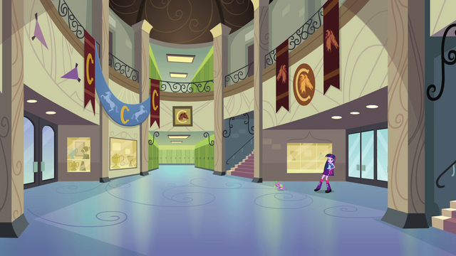 File:Twilight and Spike in Canterlot High's main hall EG.png