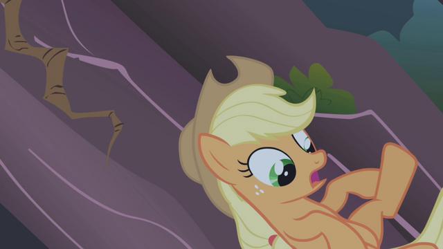 File:Applejack lets go of her vine S1E02.png