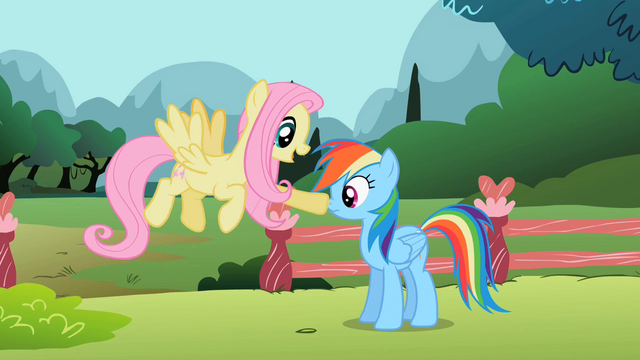 File:Fluttershy poke Rainbow nose S2E7.png