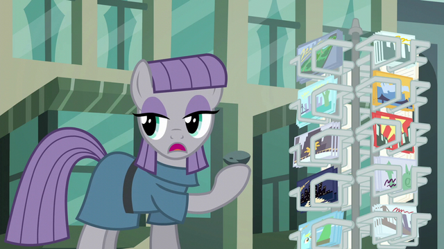 "File:Maud Pie ""Boulder promised his cousin a postcard"" S6E3.png"