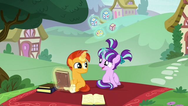 File:Starlight and Sunburst happy about Starlight's success S6E1.png