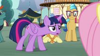 Twilight Sparkle asks Fluttershy what's wrong S7E14