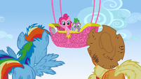 Pinkie Pie tells the result S1E13
