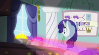 Rarity looking at bowls of gemstones S5E14