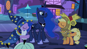 Twilight and Applejack pointing S2E04.png