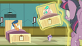Flurry Heart levitates Aquamarine's hospital bed again S7E3.png