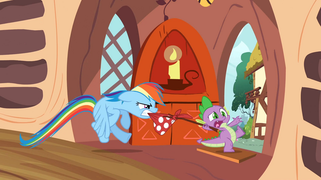File:Rainbow trying to stop Spike S2E21.png