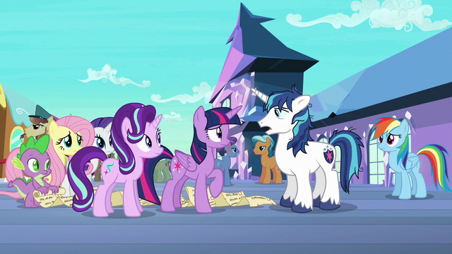 """File:Shining Armor """"haven't really slept since"""" S6E1.png"""