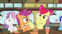 Apple Bloom making face S4E15