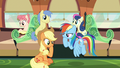 Applejack and Rainbow in deep thought S6E18.png