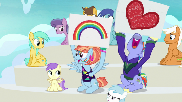 File:Bow and Windy cheer for Rainbow in flashback S7E7.png