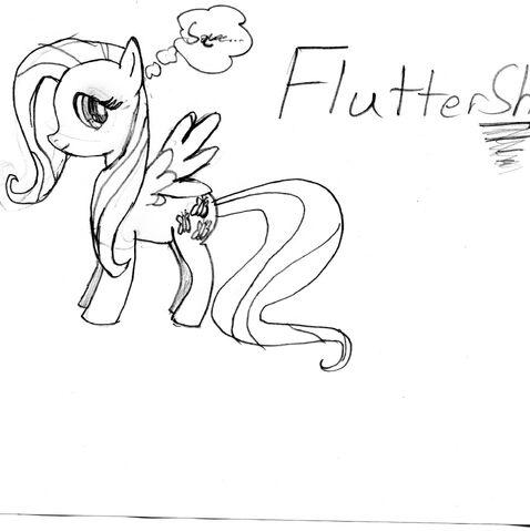 File:FANMADE Fluttershy drawing.jpg