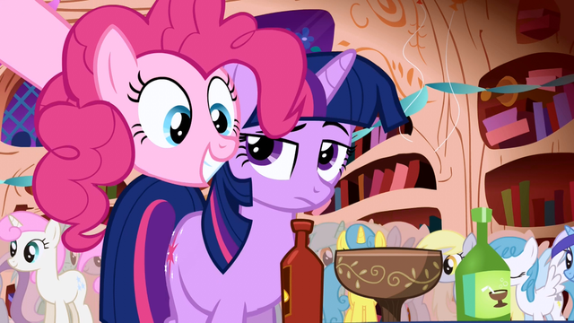 File:Pinkie Pie party library Twilight Sparkle hot sauce S1E01.png