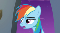 "Rainbow Dash ""fell into a garbage can"" S6E7"