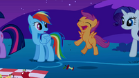 Scootaloo hops in the air S1E24