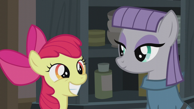 File:Apple Bloom and Maud smiling S5E20.png