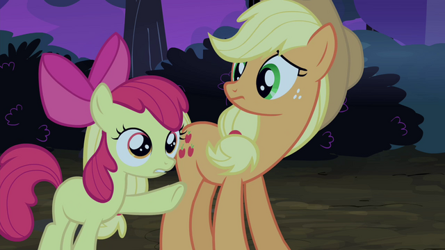 File:Apple Bloom pointing at Silver Shill S4E20.png