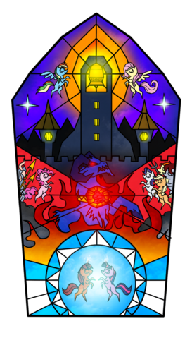 File:FANMADE The bell of freedom stained glass by yula568.png