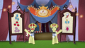 Flim and Flam welcome ponies into the tent BFHHS4.png