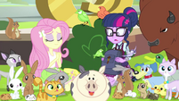 Fluttershy has so many animals EG3b