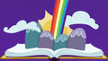 Friendship journal opens to bright rainbow S7E14.png