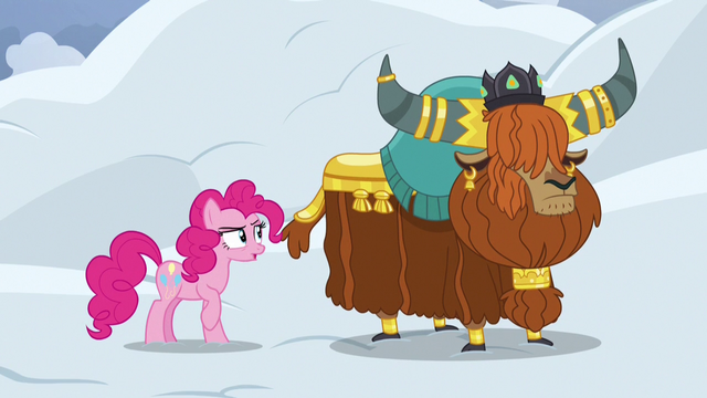 File:Pinkie Pie skeptical of Rutherford's claim S7E11.png