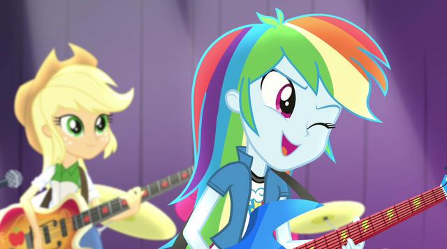 File:Rainbow Dash winking at Twilight EG2.png