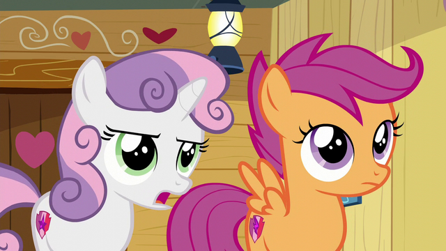 "File:Sweetie ""we used to only do stuff to get our cutie marks"" S6E4.png"