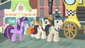 Twilight talking to a pony in line S4E08.png