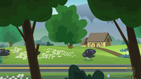 Legend of Everfree background asset - wooded highway 4