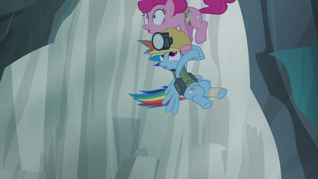 File:Pinkie and Rainbow being pulled upward S5E8.png